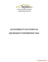 Tutorial PowerPoint 2010: Accessibility