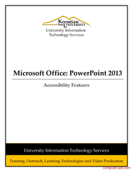 Tutorial Powerpoint 2013: Accessibility Features