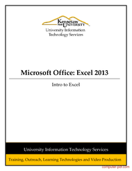Tutorial Excel 2013: Introduction