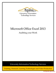 Tutorial Excel 2013: Auditing your Work