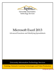 Tutorial Excel 2013: Advanced Functions and Modifying Spreadsheets
