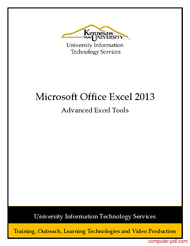 Tutorial Excel 2013: Advanced Excel Tools