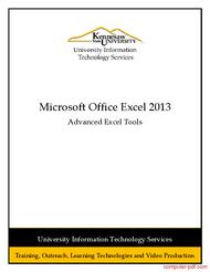 Tutorial Excel 2013: Advanced Excel Tools