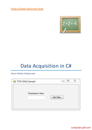 Tutorial Data	 Acquisition in C#
