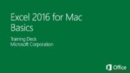 Tutorial Excel 2016 for Mac Basics