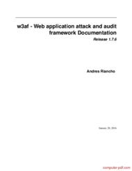Tutorial Web application attack and audit framework - w3af