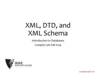 Tutorial XML, DTD, and XML Schema
