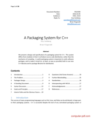 Tutorial A Packaging System for C++