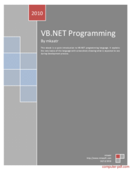Tutorial VB.NET Programming