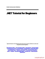 Tutorial .NET Tutorial for Beginners