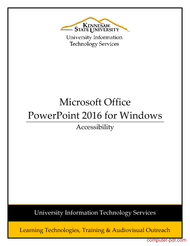 Tutorial PowerPoint 2016 - Accessibility
