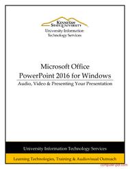 Tutorial PowerPoint 2016 - Audio, Video & Presenting Your Presentation