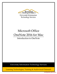 Tutorial Introduction to OneNote 2016 for Mac