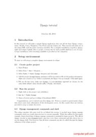 Tutorial  Sample Django application