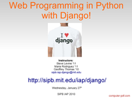 PDF] Web Programming in Python with Django free tutorial for