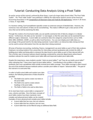 PDF] Conducting Data Analysis Using a Pivot Table free