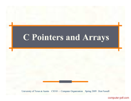 Tutorial C Pointers and Arrays