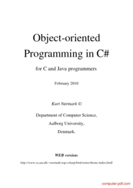 Tutorial Object-oriented Programming in C#