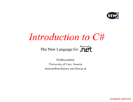 Tutorial Introduction to CSharp (C#)