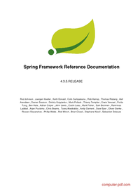 Tutorial Spring Framework Reference Documentation