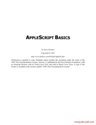 Tutorial Applescript Basics