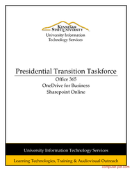 Tutorial Presidential Transition Taskforce - Office 365 Guide