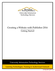 Tutorial Creating a Website with Publisher 2016
