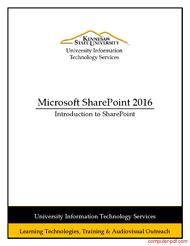 Tutorial Microsoft SharePoint 2016