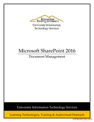 Tutorial Microsoft SharePoint 2016: Document Management