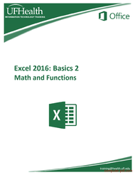 Tutorial Excel 2016 Basics Math and Functions