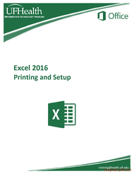 Tutorial Excel 2016 Printing and Setup