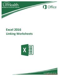 Tutorial Excel 2016 Linking Worksheets