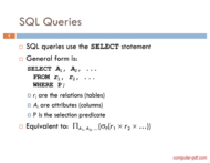 course SQL Queries