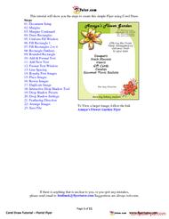 PDF] Create Flyer using Corel Draw (coreldraw) free tutorial