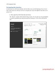 course Microsoft Excel 2013 Essentials