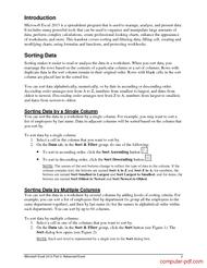 course Microsoft Excel 2013 Part 3: Advanced