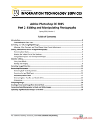 Tutorial Photoshop CC 2015 Part 2: Editing and Manipulating Photographs