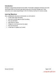 course InDesign CC 2017 Intermediate Skills