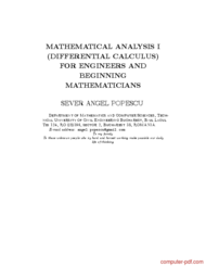 Tutorial Mathematical analysis I (differential calculus)