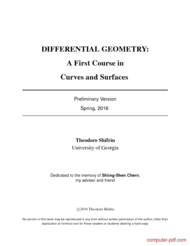 Tutorial A First Course in Curves and Surfaces