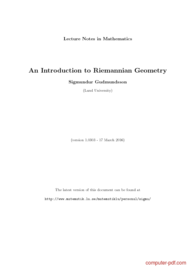 Tutorial An Introduction to Riemannian Geometry