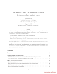 Tutorial Probability and Geometry on Groups