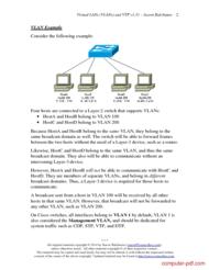 course Virtual LANs (VLANs) and VTP