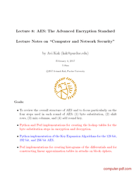 Tutorial AES The Advanced Encryption Standard