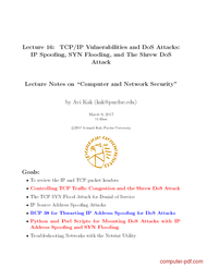 Tutorial TCP/IP Vulnerabilities and DoS Attacks