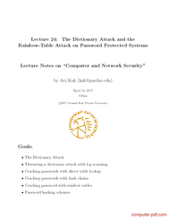 Pdf The Dictionary Attack And The Rainbowtable Attack On