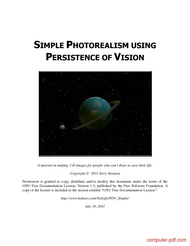 Tutorial Simple Photorealism using persistence of vision