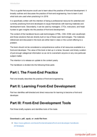 course Front-end Developer Handbook 2018