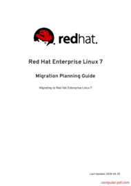 Tutorial Red Hat Enterprise Linux 7 Migration Planning Guide