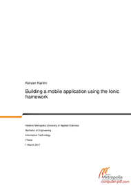 Tutorial Building a mobile application using the Ionic framework